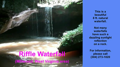 video clip of the Riffle Waterfall in Millwood WV